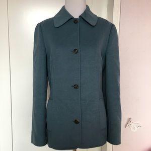 Michael Kors Blue Made in Italy Angora Jacket Sz 4